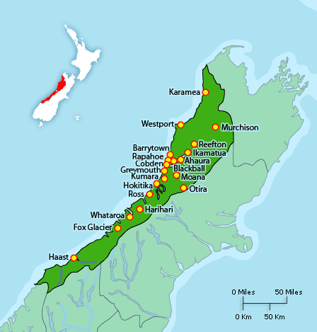 New Zealand District Health Boards Map.West Coast District Health Board Canterbury West Coast New